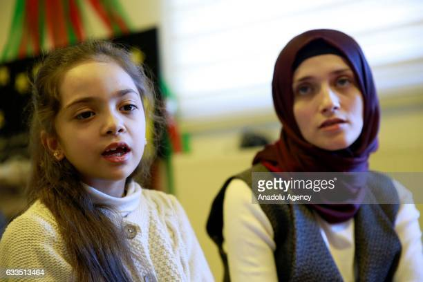 A seven years old Syrian girl Bana Alabed visits and spends time with her peers with her mother Fatemah Alabed at Turkish Red Crescent Community...