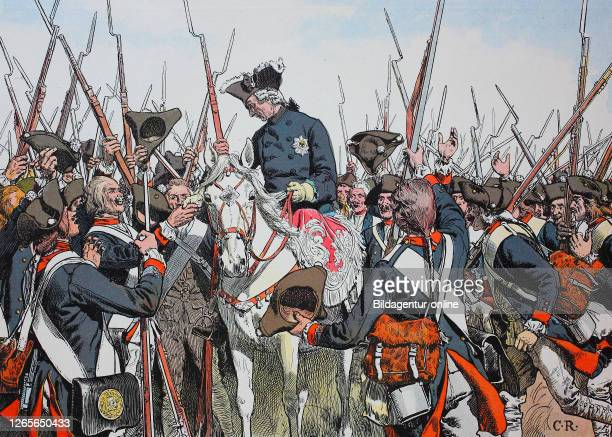 Seven Years' War, global conflict fought between 1756 and 1763, King Frederick the Great, Frederick II., Friedrich der Große, Friedrich II. 1712 -...