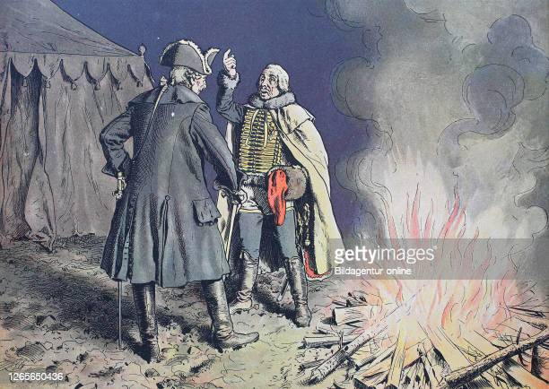 Seven Years' War, global conflict fought between 1756 and 1763, Frederick the Great, Frederick II., Friedrich der Große, Friedrich II. 1712 - 1786,...