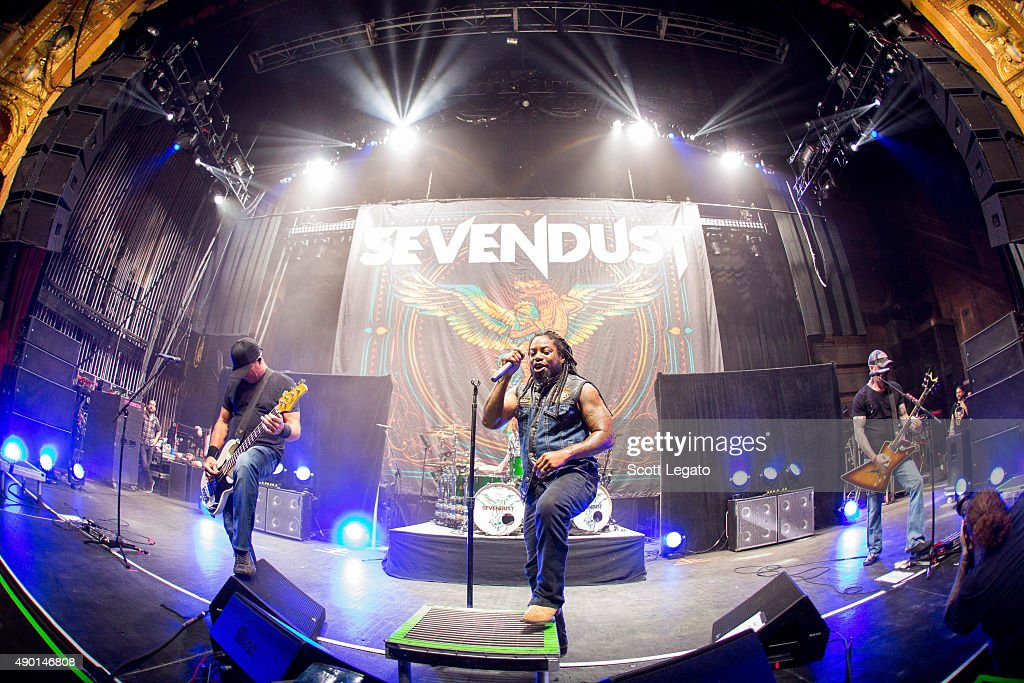 Sevendust performs during the 1000HP Tour at The Fillmore Detroit on September 23, 2015 in Detroit, Michigan.