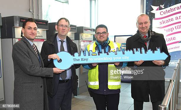 Sevenoaks Station Manager Dan Morrison Rail Minister Paul Maynard Sevenoaks Team Leader Conor Brown and Southeastern Managing Director David Statham...