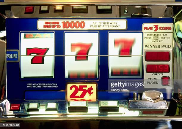 Sevens on a Slot Machine
