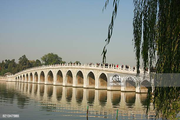 Seventeen arch bridge in the Summer Palace of Beijing, China.