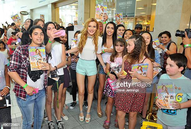 Seventeen Magazine cover girl and Disney Channel star Bella Thorne meets fans at her instore signing at Barnes Noble at the Shops at Tanforan on May...