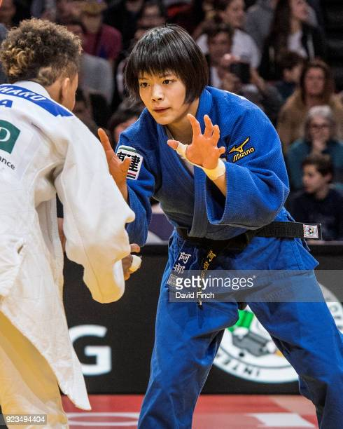 Seventeen years old Uta Abe of Japan won the u52kg gold medal after her opponent Amandine Buchard of France received a third shido in extra time and...