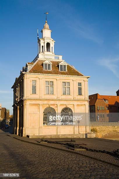 Seventeenth century Custom House building at King's Lynn, Norfolk, England.