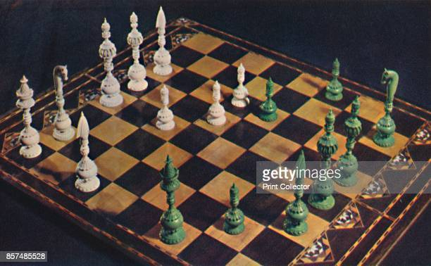 SeventeenthCentury Ivory Chessmen and Board' 1948 From British Chess by Kenneth Matthews [Collins London 1948] Artist Unknown