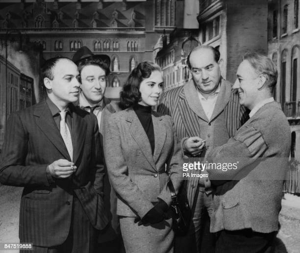 Seventeenyearold Judy Verity 'Miss Jamaica' meets some tough but friendly characters during a visit to Ealing Studios She watched shooting on the new...