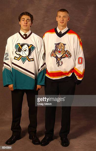 Seventh overall draft pick Joffrey Lupul selected by the Anahein Mighty Ducks and third overall draft pick Jay Bouwmeester selected by the Florida...