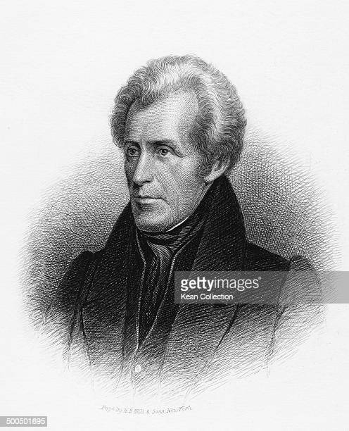Seventh President of the United States Andrew Jackson circa 1830 From an original engraving by HB Hall Sons