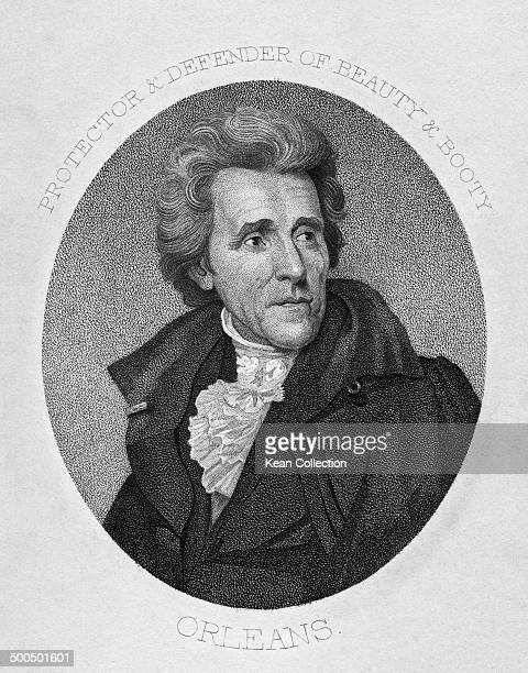 Seventh President of the United States General Andrew Jackson 1828 Engraved by CG Childs after the original painting by JWood