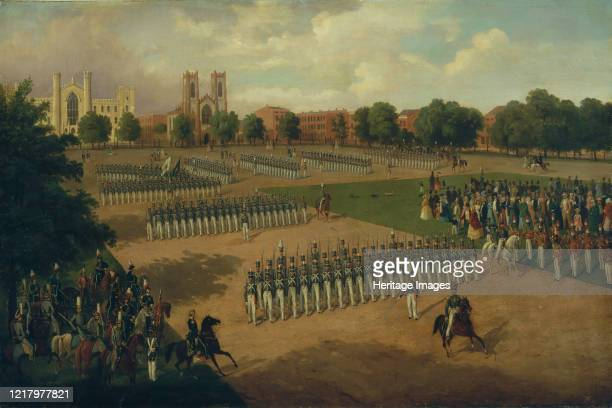 Seventh Regiment on Review, Washington Square, New York, 1851. Boetticher served in the Prussian army before he came to the United States around...