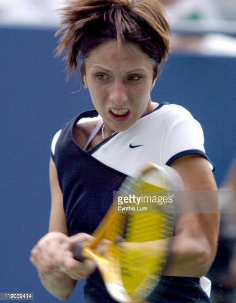 Seventh seed Anastasia Myskina fought off unseeded Maria Sanchez Lorenzo with a 26 64 63 victory