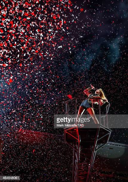Seventime Grammy winner Taylor Swift kicked off the Australian leg of her RED tour at Allianz Stadium playing to a soldout crowd of more than 40000...