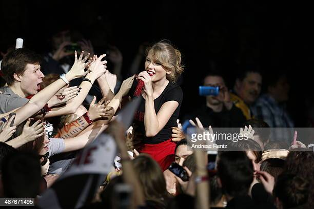 Seventime Grammy winner Taylor Swift took the European leg of her blockbuster The RED Tour show to Berlin's O2 World playing to a capacity crowd of...