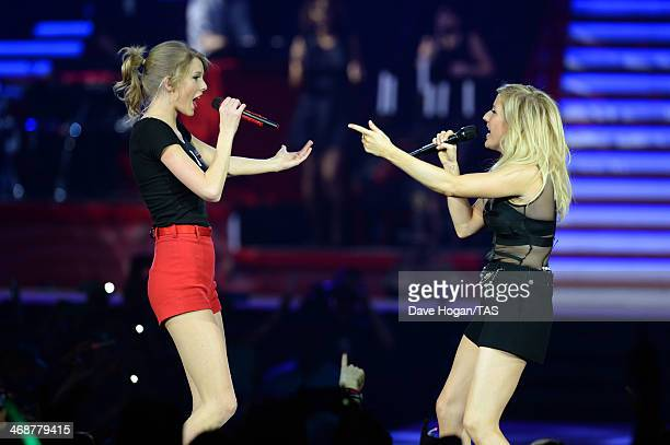 Seventime Grammy winner Taylor Swift was joined on stage by Ellie Goulding on the final night of the European leg of her blockbuster The RED Tour at...