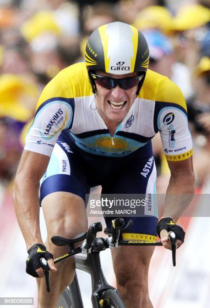 Seventime Tour de France winner American Lance Armstrong