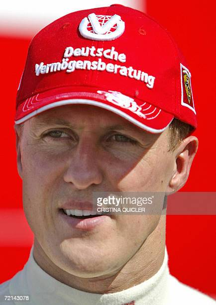 Seventime world Formula One champion Michael Schumacher walks during a training session at the Jerez recetrack 11 October 2006 Schumacher's bid for...
