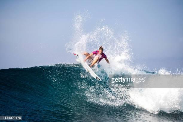 Surfer on blue ocean vector image on VectorStock | Beach photos, Blue  ocean, Vector free