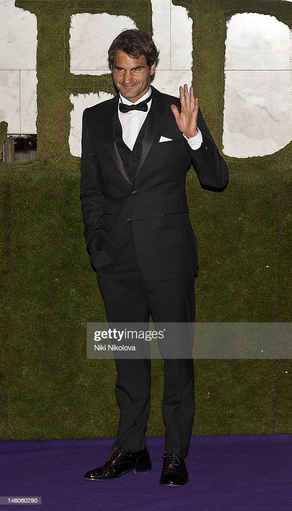 Seven-times Wimbledon Men's Champion Roger Federer attends the Wimbledon Championships Winners Ball at InterContinental Park Lane Hotel on July 8, 2012 in London, England.