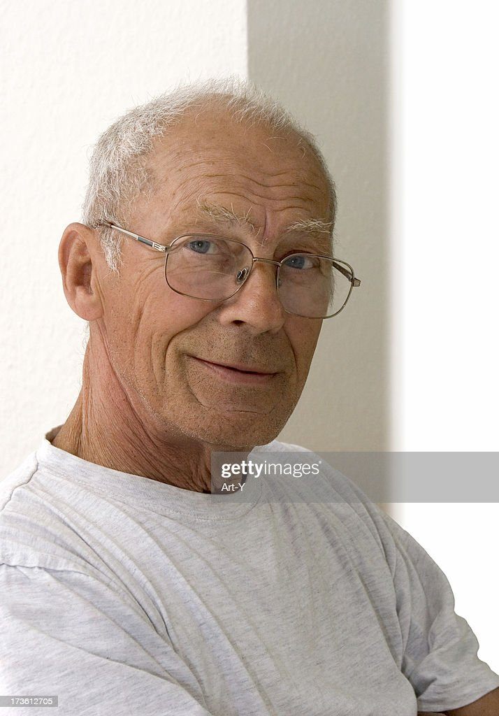 Seventy  year old man smiling : Stock Photo