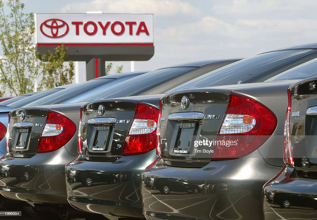 Several 2002 Toyota Camrys Are Visible At Bredemann Toyota August 8, 2002  In Park Ridge