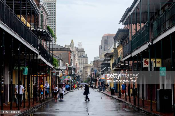 Several businesses on Bourbon Street resume back to normal the day after Hurricane Barry was predicted to come but didn't in New Orleans on July 13,...