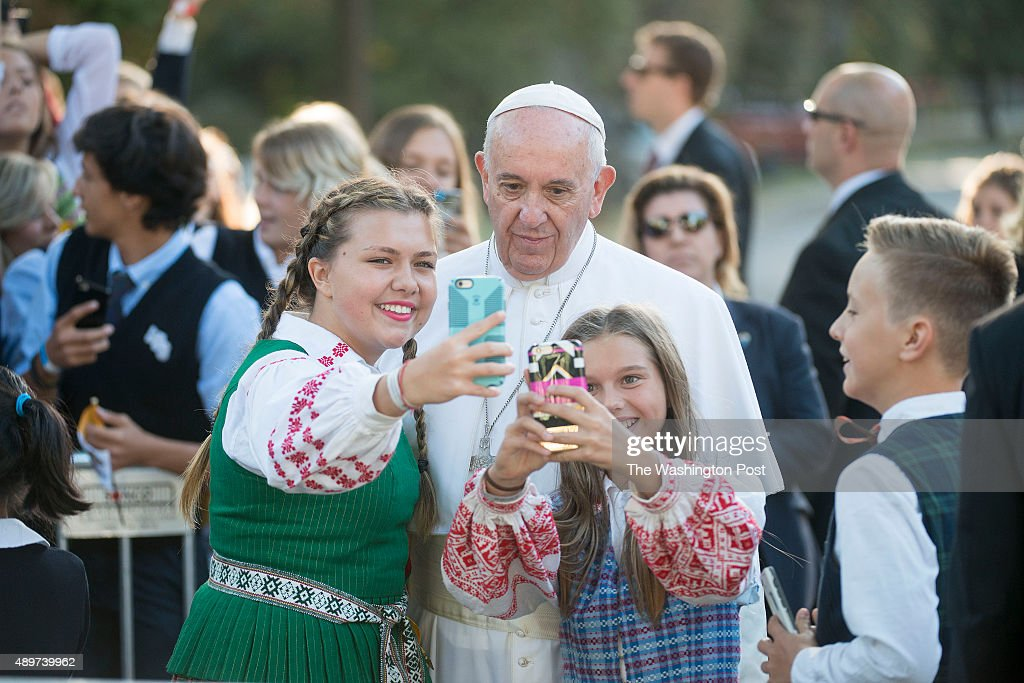 Pope Francis at the Nunciature : News Photo