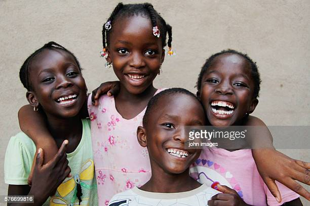 Several children smiling