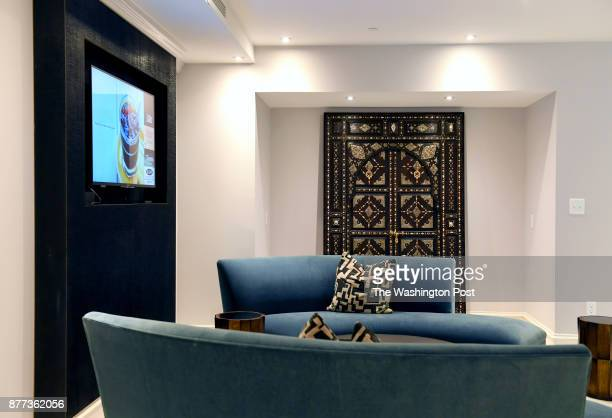 Several cozy seating areas make up the common area of the apartment building that used to be part of a hospital November 12 2017 in Washington DC...