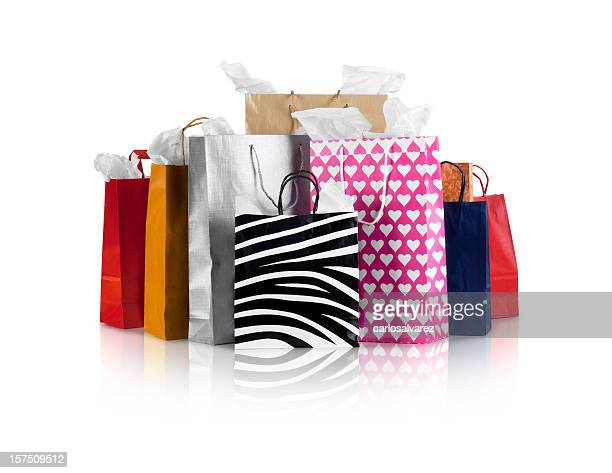 several different various shopping bags - shopping bag stock pictures, royalty-free photos & images