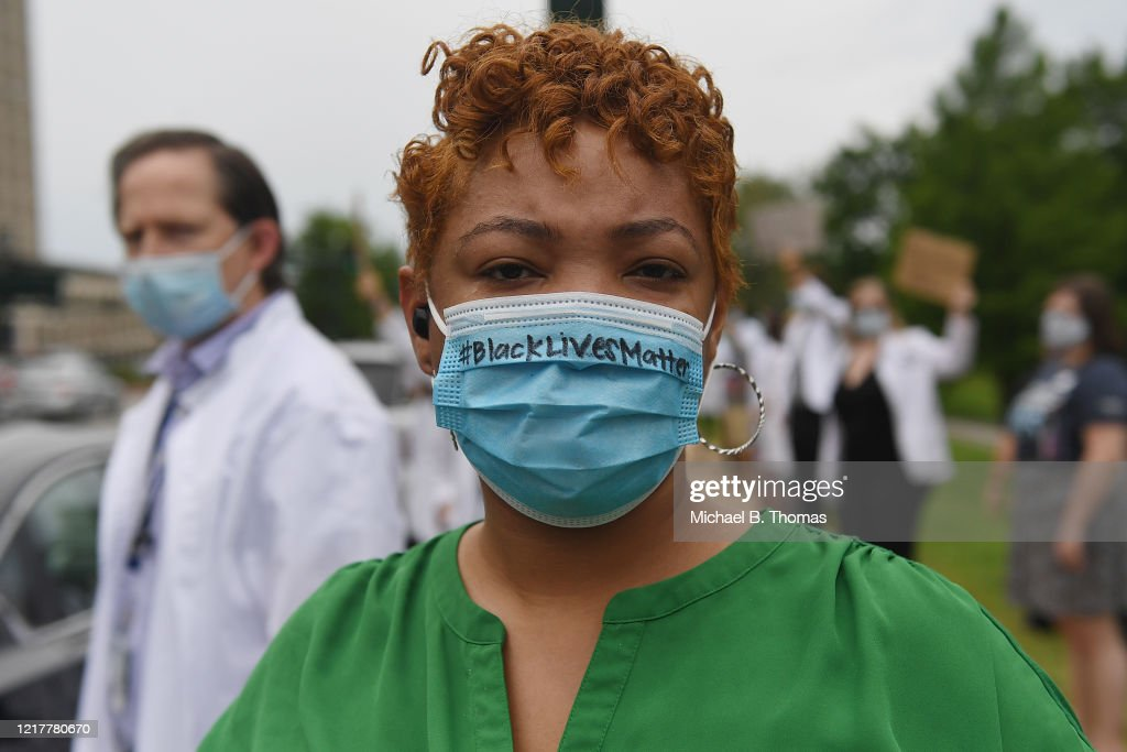 Missouri Healthcare Workers Join Anti-Racism Protests : News Photo