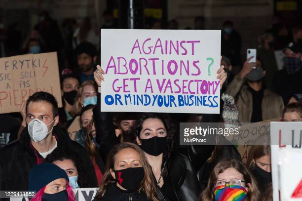 Several hundreds of demonstrators protest in Piccadilly Circus against Poland's top court ruling that abortion of fetuses with congenital defects is...