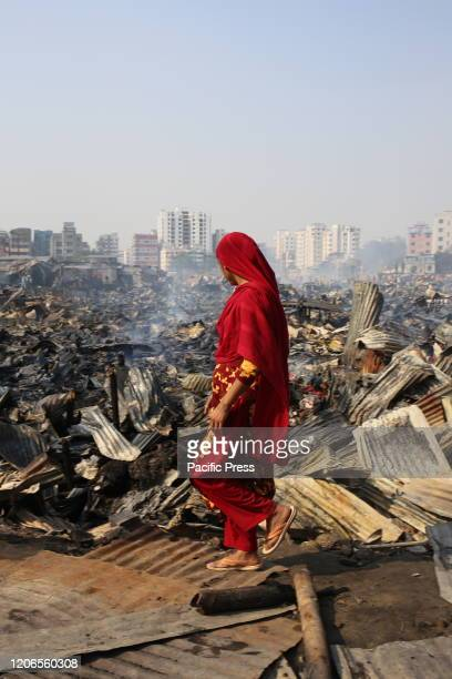 Several hundreds of houses were gutted as the devastating fire that broke out at a slum in Rupnagar area of Mirpur in the capital this morning A...