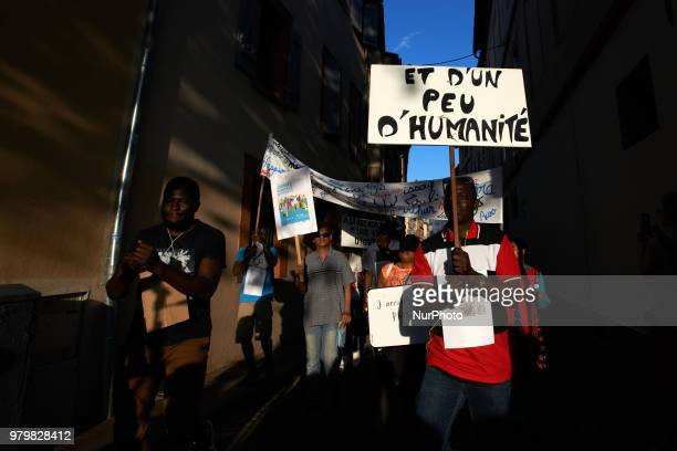 Several NGOs such as Amnesty International CIMADE Cercle des Voisins etc organized a 'theatrical deambulation' to raise awareness about migration and...