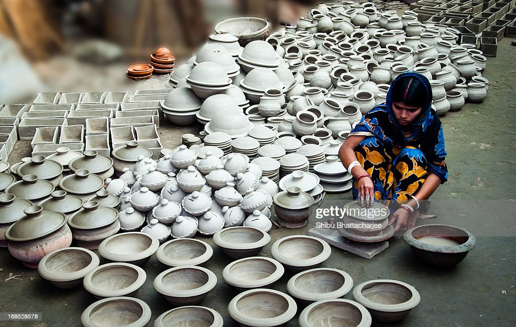 She Very Busy To Make Soil Handicrafts Pictures Getty Images