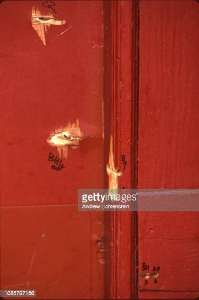 Several of the 41 bullets fired by police at an unarmed African immigrant Amadou Diallo while he was standing outside his home are marked and...