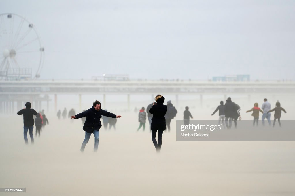 Storm Ciara Arrives In The Netherlands : ニュース写真