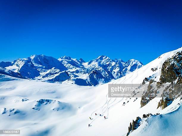 Ich liebe Skifahren im Pulverschnee XXXL