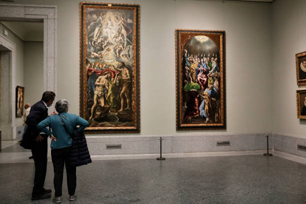 ESP: 'El Greco en Illescas' Presentatiom At Prado Museum