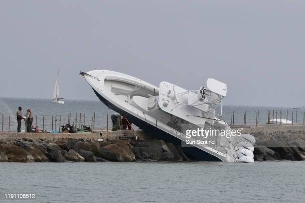 Several people were injured after a boat crashed into a jetty near Port Everglades on Dec 31 2019