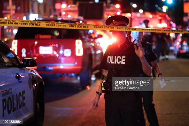 Several people were taken to hospital following a mass shooting on the Danforth near Logan It was reported that a gunman in black entered the area...