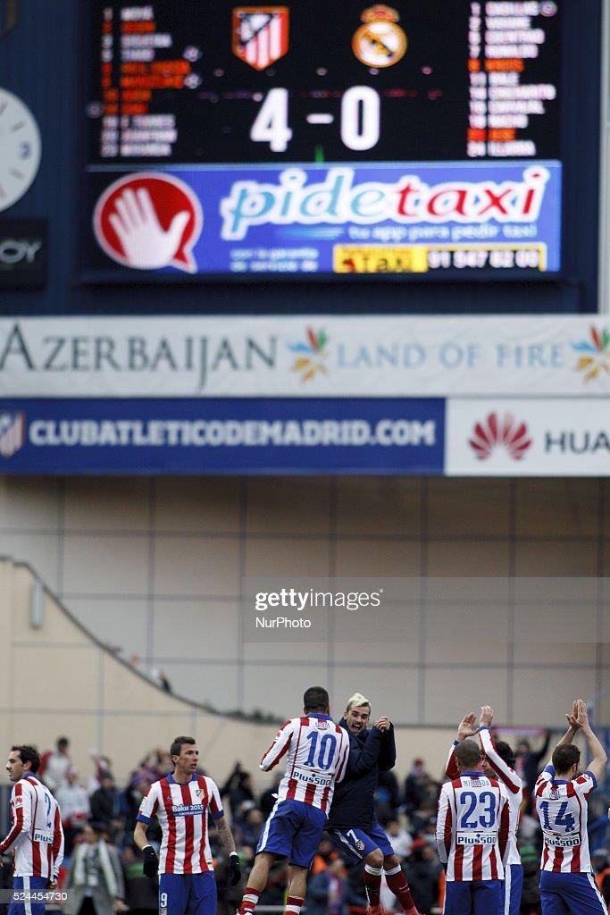 Spanish League 2014/15: ATLETICO DE MADRID vs REAL MADRID : News Photo