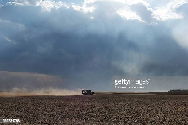 Several prairie fires burn across farm fields at once after a brief summer storm passed through the drought stricken area of Nebraska 2012 saw the...