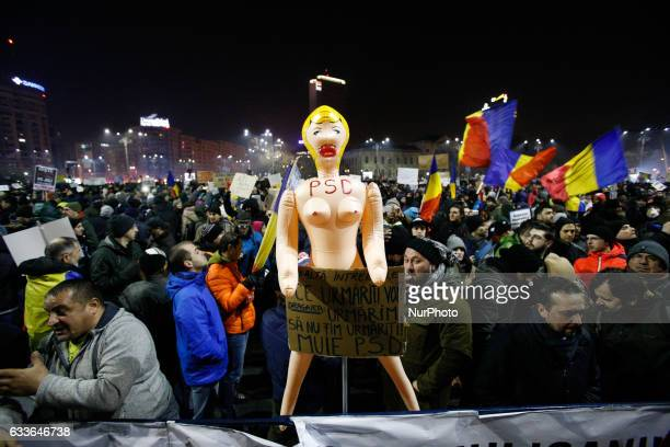 Several thousand are seen on Victory square in front of the government headquarters demonstrating against the proposal by the government to ease...