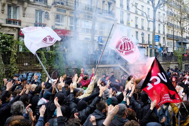 FRA: Demonstration Against The Far-right In Paris