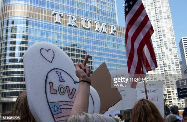 Several thousand people marched asking President Donald J Trump to release his income tax returns Others protested against the President's...