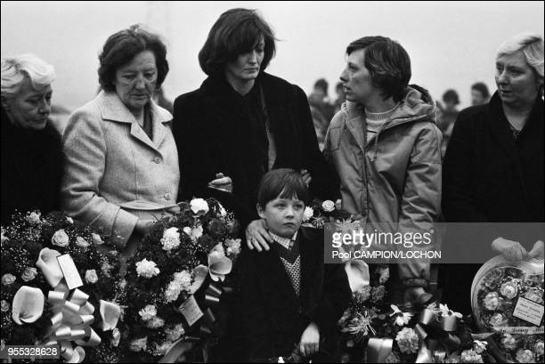 Several thousand sympathizers converged on Belfast to bury Bobby Sands who died in prison after 66 days of hunger strike He had been refused the...