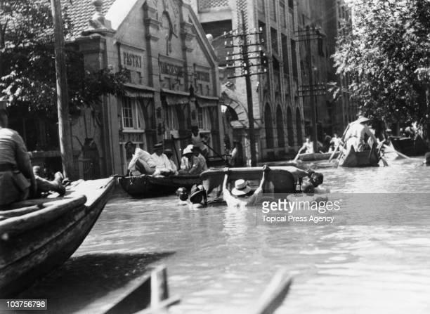 Severe flooding in Hankou China September 1931