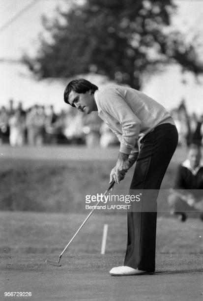 Severiano Ballesteros lors du Trophée Lancôme à SaintNomlaBretèche le 2 octobre 1983 France